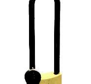 "Brass Keyed Long Hardened Shackle Padlock 1-31 / 32 "" (50 mm)"