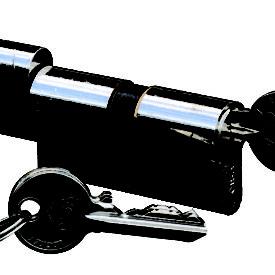 """European Profile Mortise Bedroom Cylinder (60 mm or 2-3/8"""")"""