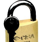 """Brass Keyed Hardened Shackle Padlock 1-31 / 32 """" (50 mm)"""