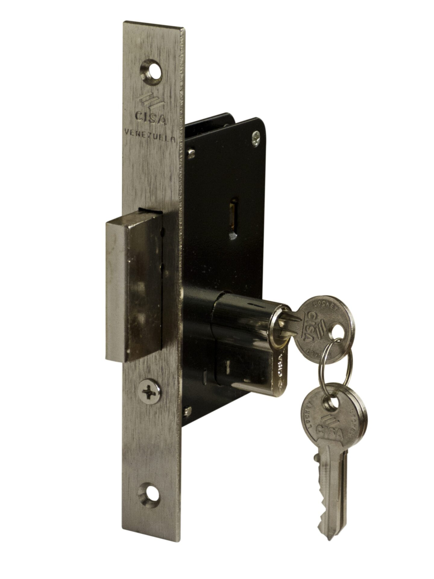 "Mortise Door Lock 1-3/8"" or 35 mm with 2 Key Turn"