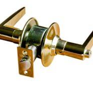 Straight Lever Lock for Bedroom Doors-Gold