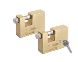CISA Keyed Alike Solid Monoblock Heavy Duty Padlocks Set 2-3/4″ (70mm)