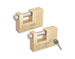 CISA Keyed Alike Solid Monoblock Heavy Duty Padlocks Set 3-1/32″ (77mm)